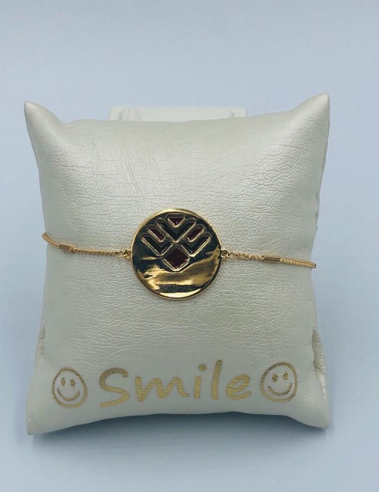 Armband Mariesy fijn goud rond