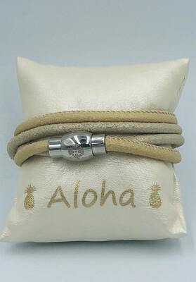 Armband Qudo beige Leder