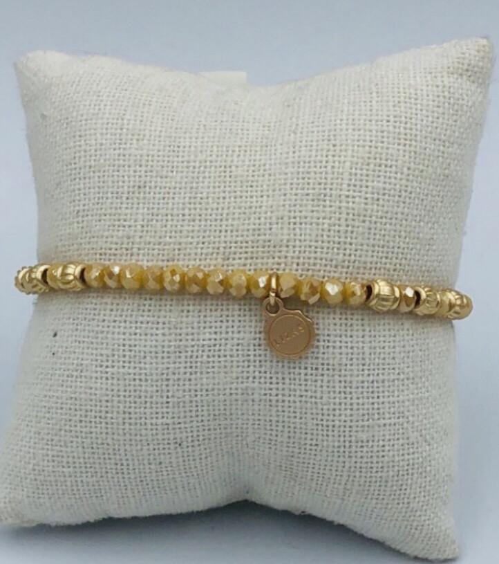Armband Lizas Geel blinkend