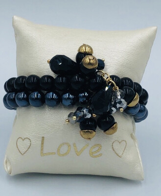 Armbanden Set Lizas Zwart/Grijs