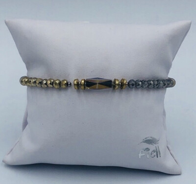 Armband Lizas Goud/grijs