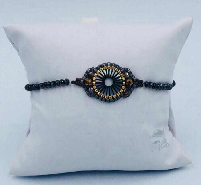 Armband Lizas Zwart met medaillon