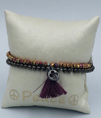 Armband Lizas Bordeaux/donkerbruin