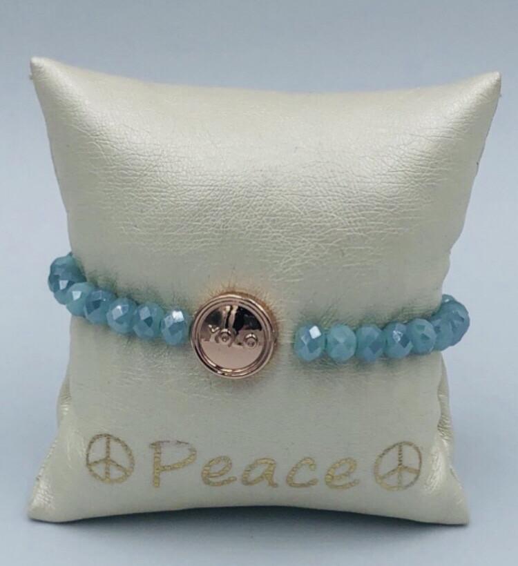 Armband Lizas blauw metaal