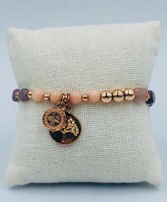 Armband Lizas Roze /taupe