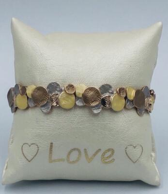 Armband Lizas goud/koper