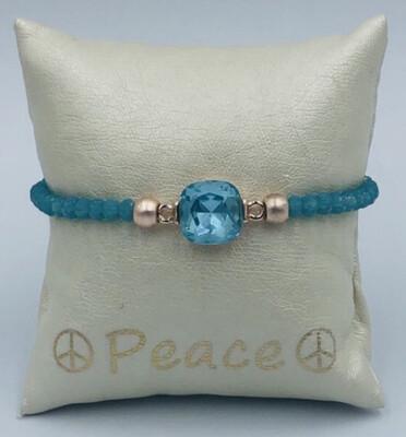 Armband Lizas blauw met steen