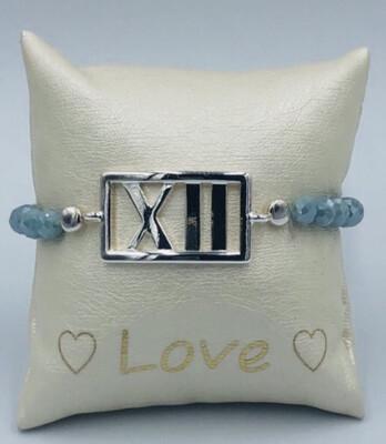 Armband Lizas grijs/blauw XII