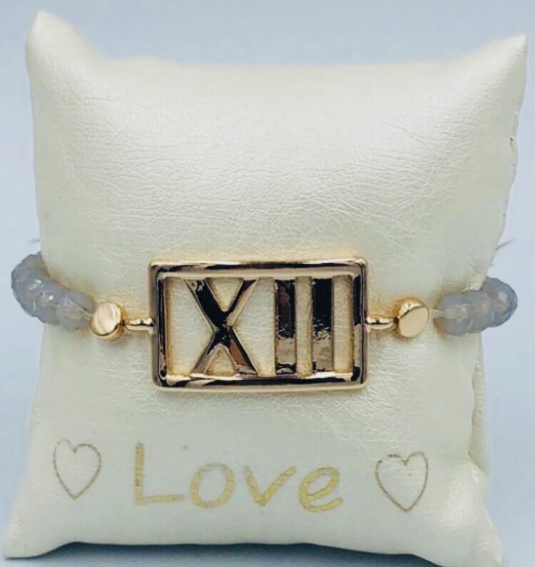 Armband Lizas lichtgrijs XII