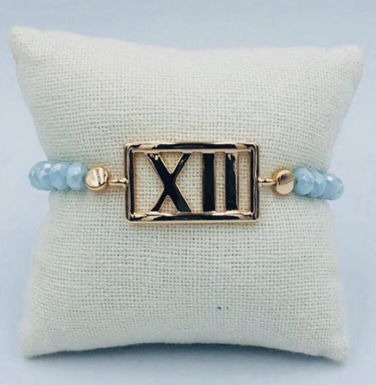Armband Lizas lichtblauw XII