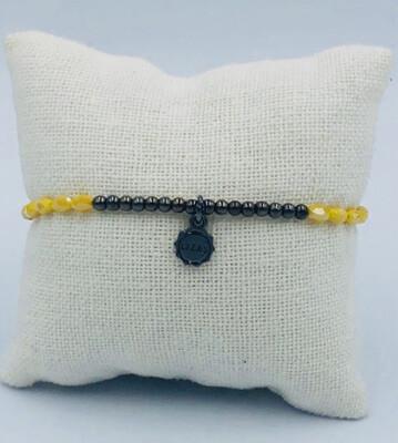 Armband Lizas Zwart/geel