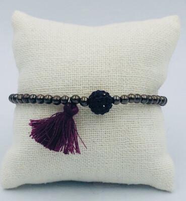 Armband Lizas Kaki/Bordeaux