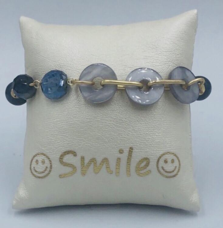 Armband Blauw/grijs
