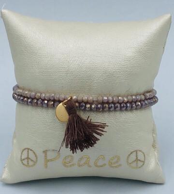 Armbanden Setje Lizas lila/beige