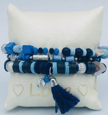 Armband Set Blauw