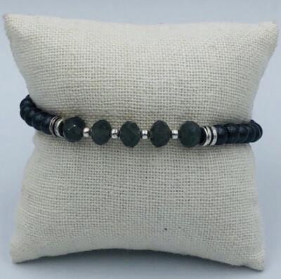 Armband Zwart Bolletjes