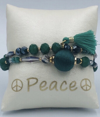 Armband Set Groen