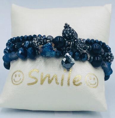 Armband Set Donkerblauw