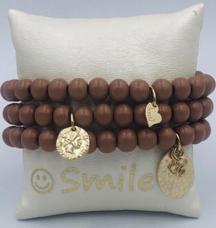 Armband Set Cognac Mat