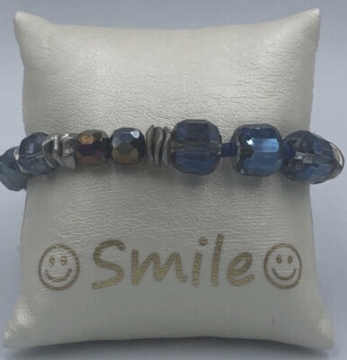 Armband Blauw (glas)