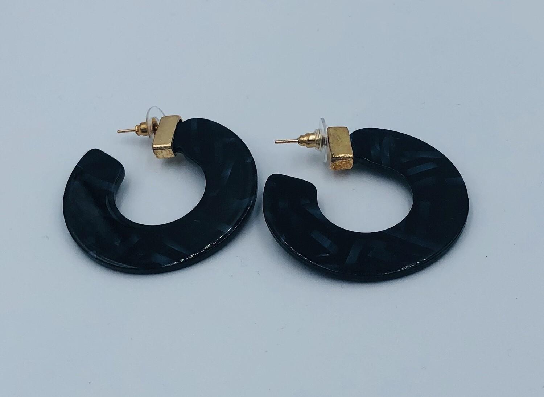Oorbellen Lizas Zwart Ring