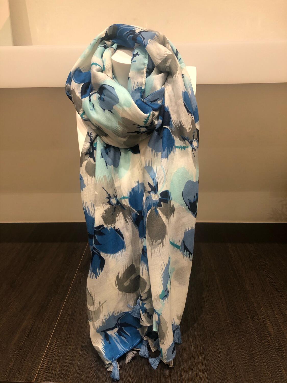 Sjaal: Blauw Bloem