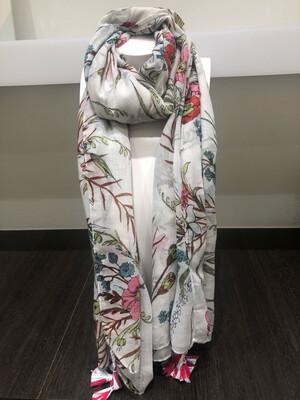Sjaal Bloemen Rood/Roze