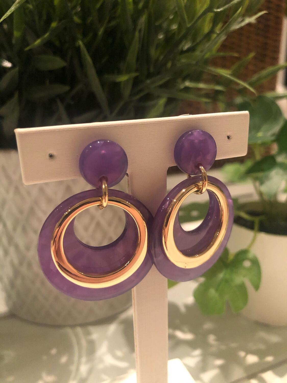 Oorbellen Paars Ringen