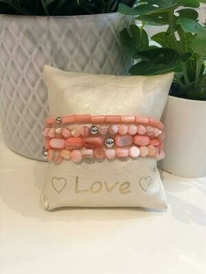 Armband Set Vieux Roze