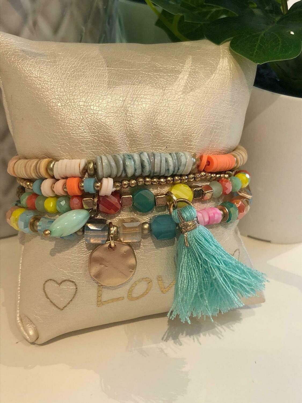 Armband Set Kleuren Blauw