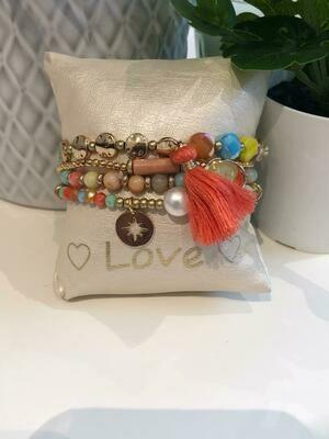 Armband Set Kleur Oranje