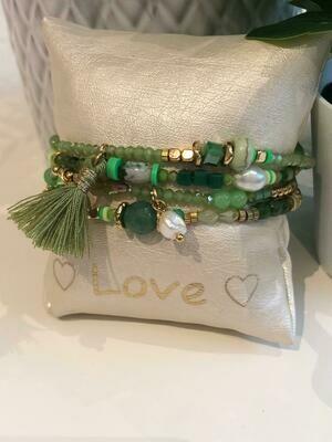 Armband Set Groen Floche