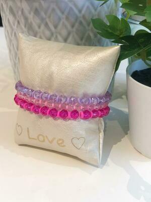 Armband Set Fushia