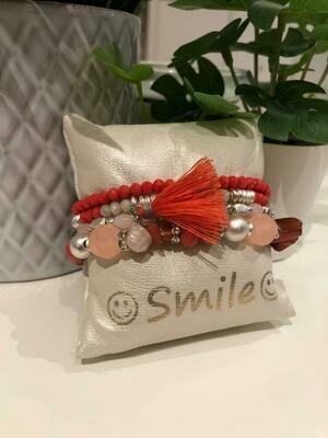 Armband Set Oranje Floche