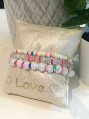 Armband Set Wit/Kleur