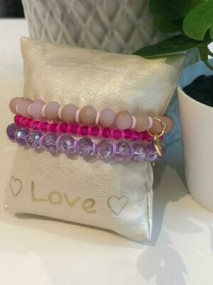 Armbanden Set Paars/Roze