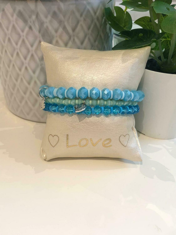 Armbanden Set Blauw/Groen