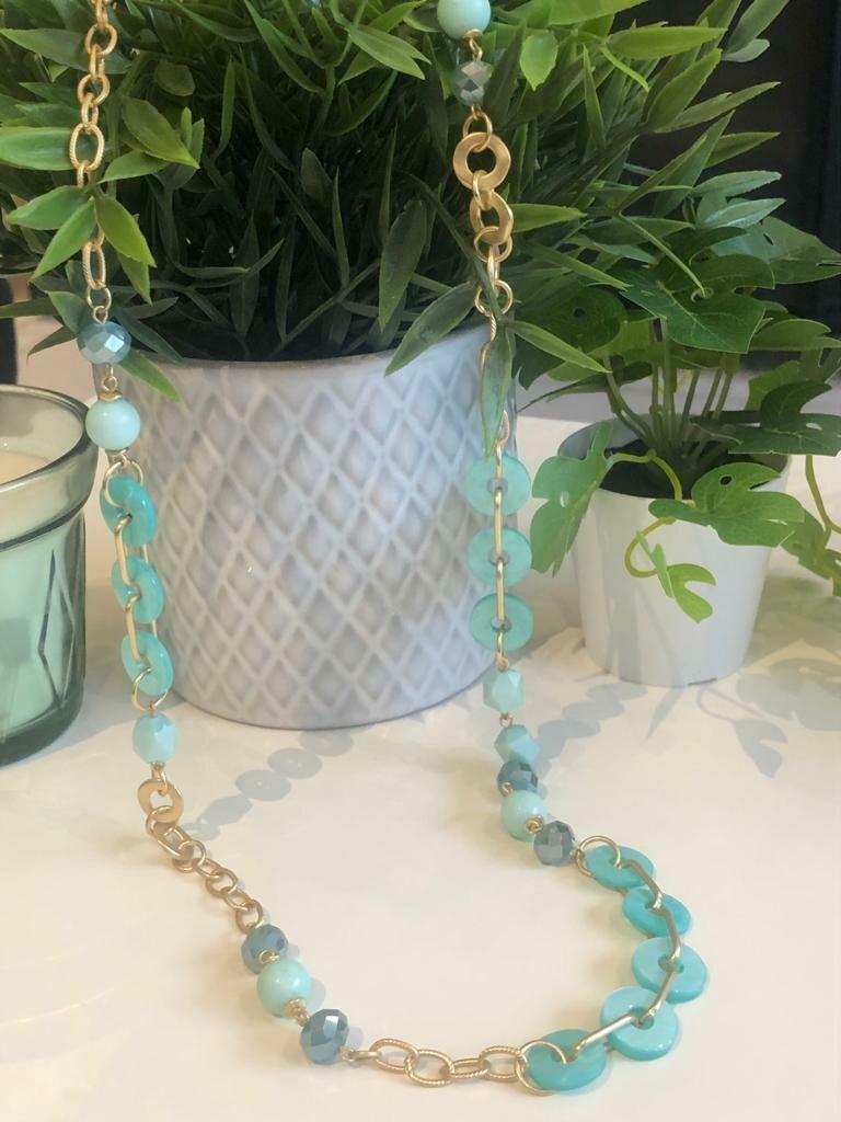 Ketting lang turquoise