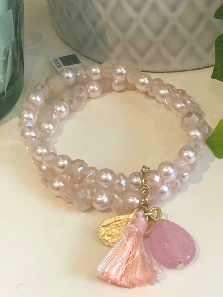 Armband set pastel roze