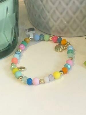 Armband kleurtjes bolletjes