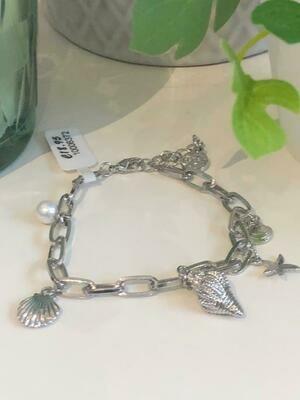 Armband schakel zilver