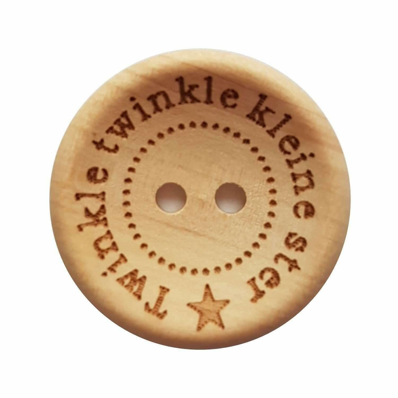 Twinkle twinkle kleine ster Houten knop 25mm