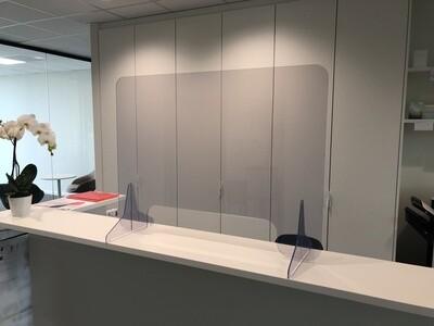 Transparante PVC Bescherming B: 1000 H: 750 X D: 5mm
