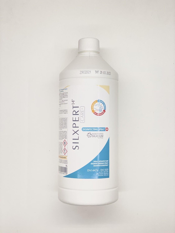 Desinfecterende Handspray SILXPERT 1L - Vulling dispenser Virusstop