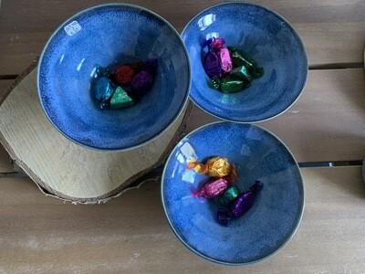 Deep blue bowls