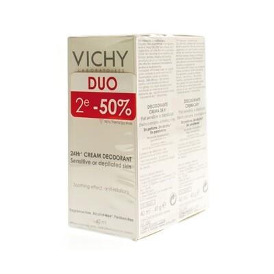 VICHY DEO GEV. H-GEEPILEERD CREME 24U DUO 2X40ML