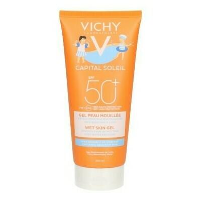 VICHY CAP. SOL. MELKGEL SMELT.KIND WET IP50+ 200ML
