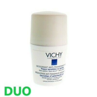 VICHY DEO GEV. HUID EPIL. BEAUTY AERO DUO 2X125ML