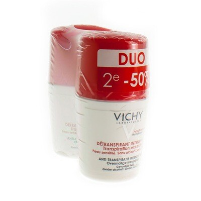 VICHY DEO TRANSP. EXC STRESS RESIST ROL DUO 2X50ML