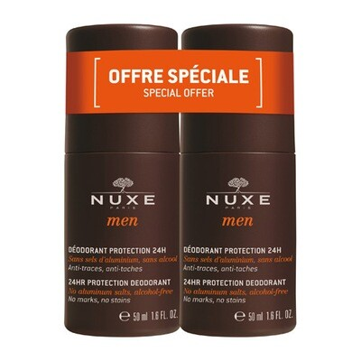 NUXE MEN DEO BESCHERMING 24U DUO ROLL-ON 2X50ML
